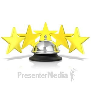 ID# 11549 - Five Star Service Bell - Presentation Clipart