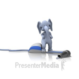 ID# 11550 - Elephant On Hose - Presentation Clipart