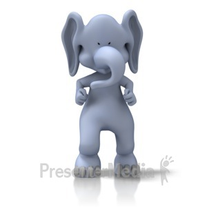 ID# 11555 - Tough Elephant - Presentation Clipart