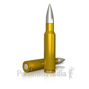 ID# 11560 - Two Rifle Bullets - Presentation Clipart