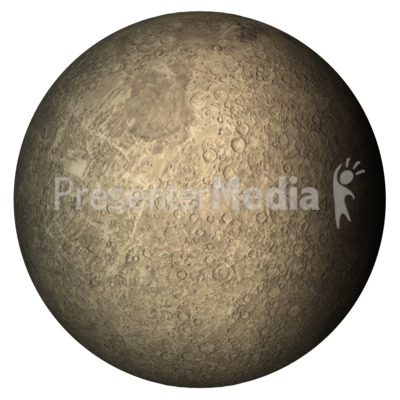 The Planet Mercury PowerPoint Clip Art
