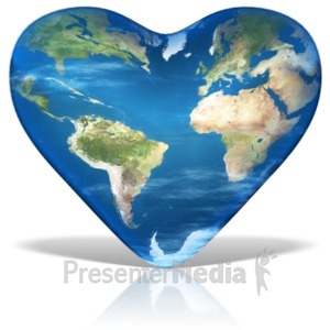 ID# 11621 - Earth Day Heart - Presentation Clipart