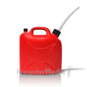 ID# 11630 - Simple Gas Can - Presentation Clipart