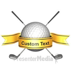 ID# 11639 - Custom Golf Banner - Presentation Clipart
