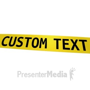 ID# 11658 - Custom Caution Tape - Presentation Clipart