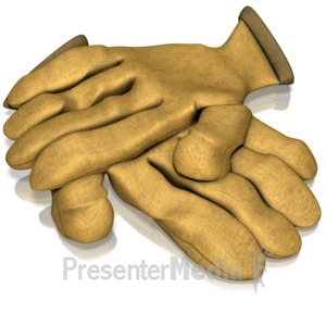 ID# 11666 - Gloves - Presentation Clipart