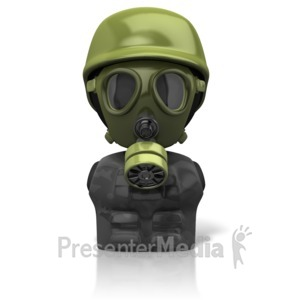 ID# 11667 - Gas Mask Figure Icon - Presentation Clipart