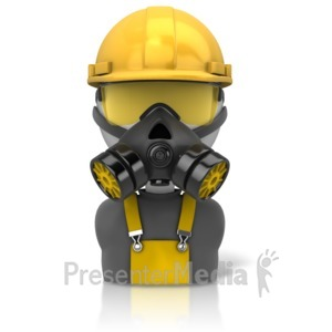 ID# 11671 - Construction Safety Figure Icon - Presentation Clipart