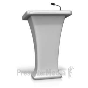 ID# 11677 - Single Podium Microphone - Presentation Clipart