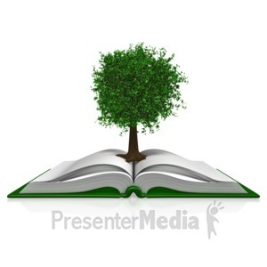 ID# 11720 - Tree In A Book - Presentation Clipart