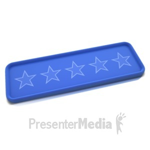 ID# 11728 - No Rating Stars Bar - Presentation Clipart