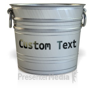 ID# 11732 - Empty Bucket Custom - Presentation Clipart