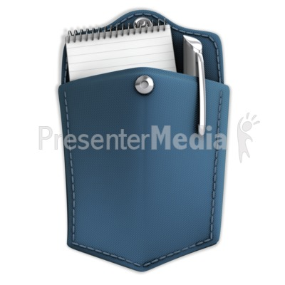 Pocket With Notepad And Pen PowerPoint Clip Art