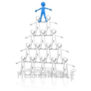 ID# 11837 - People Pyramid - Presentation Clipart
