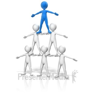 ID# 11838 - People Pyramid Small - Presentation Clipart