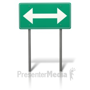 ID# 11848 - Arrow Split Sign - Presentation Clipart