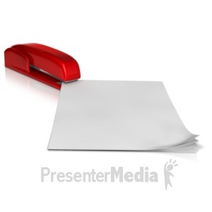 ID# 11914 - Stapling Papers - Presentation Clipart