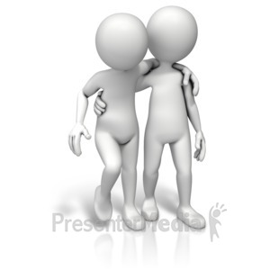 ID# 11915 - Helping A Friend - Presentation Clipart