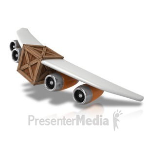 ID# 11917 - Plane With Cargo - Presentation Clipart