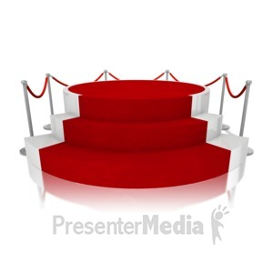 ID# 11918 - Platform Red Carpet - Presentation Clipart