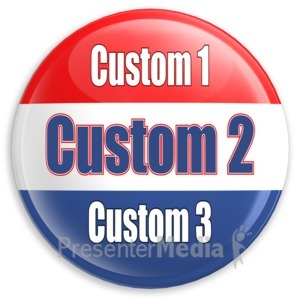 ID# 11930 - Custom Text Badge - Presentation Clipart