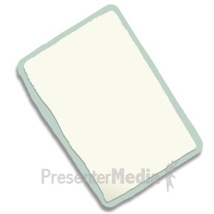 ID# 11957 - Rectangle Paper Scrap - Presentation Clipart