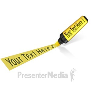 ID# 11965 - Highlighter Marker Text - Presentation Clipart