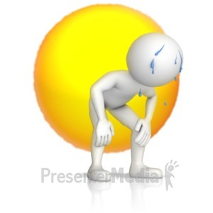 ID# 11966 - Exhausted Figure In The Sun - Presentation Clipart