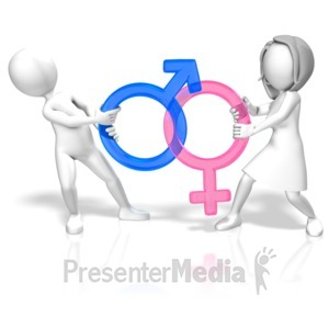 ID# 12006 - Gender Battle - Presentation Clipart