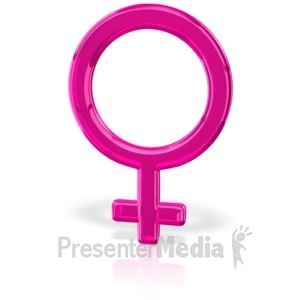 ID# 12034 - Gender Symbol Female - Presentation Clipart