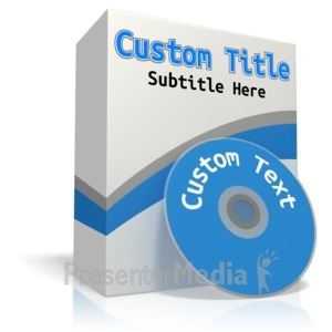 ID# 12041 - Custom Software Box - Presentation Clipart