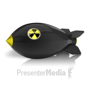 ID# 12052 - Radioactive Bomb On Ground - Presentation Clipart