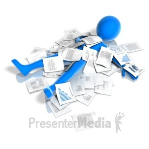 ID# 12065 - Buried In Paperwork - Presentation Clipart