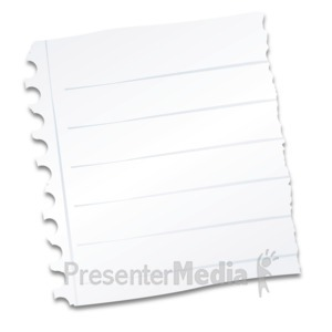 ID# 12084 - Notebook Paper Scrap - Presentation Clipart