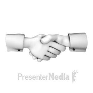 ID# 12098 - Hands Greeting with Handshake - Presentation Clipart