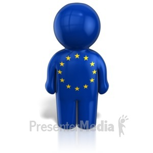 ID# 12109 - Europe Peg Figure Flag Icon - Presentation Clipart