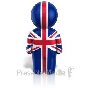 ID# 12116 - United Kingdom Peg Figure Flag Icon - Presentation Clipart