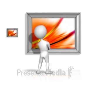 ID# 12178 - Looking At Bigger Picture - Presentation Clipart