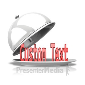 ID# 12186 - Custom Text Uncovered - Presentation Clipart