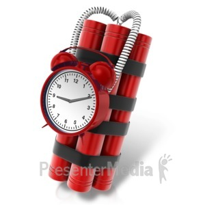 ID# 12217 - Wired Time Bomb - Presentation Clipart