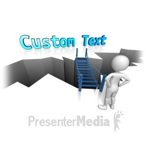 ID# 12240 - Bridge To Custom Text - Presentation Clipart