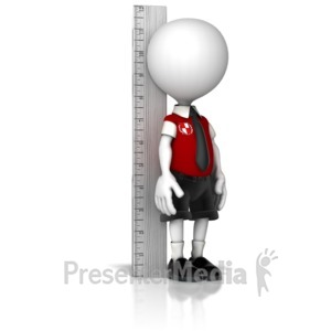 ID# 12251 - Boy School Child Measuring Up - Presentation Clipart