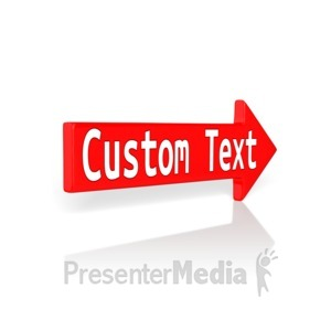 ID# 12256 - Custom Red Arrow - Presentation Clipart