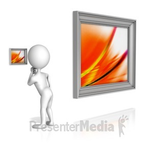 ID# 12257 - Missing The Big Picture - Presentation Clipart