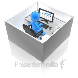 ID# 12304 - Working In A Box - Presentation Clipart