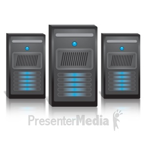ID# 12308 - Group Of Three Computers - Presentation Clipart