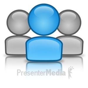 ID# 12315 - Group Leader Icon - Presentation Clipart
