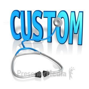 ID# 12318 - Stethoscope On Custom Text - Presentation Clipart