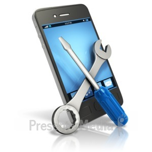 ID# 12391 - Smart Phone Tech Fix - Presentation Clipart