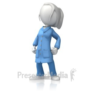 ID# 12393 - ESD Lady Proud - Presentation Clipart